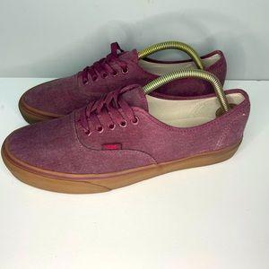 Vans Mens 721494 Purple  Classic Gum Low Top Lace Up Skate Shoes Sz 10,5